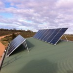 Tilted PV array