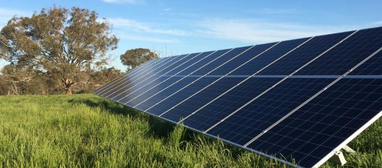off grid solar array