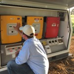Off grid battery storage unit