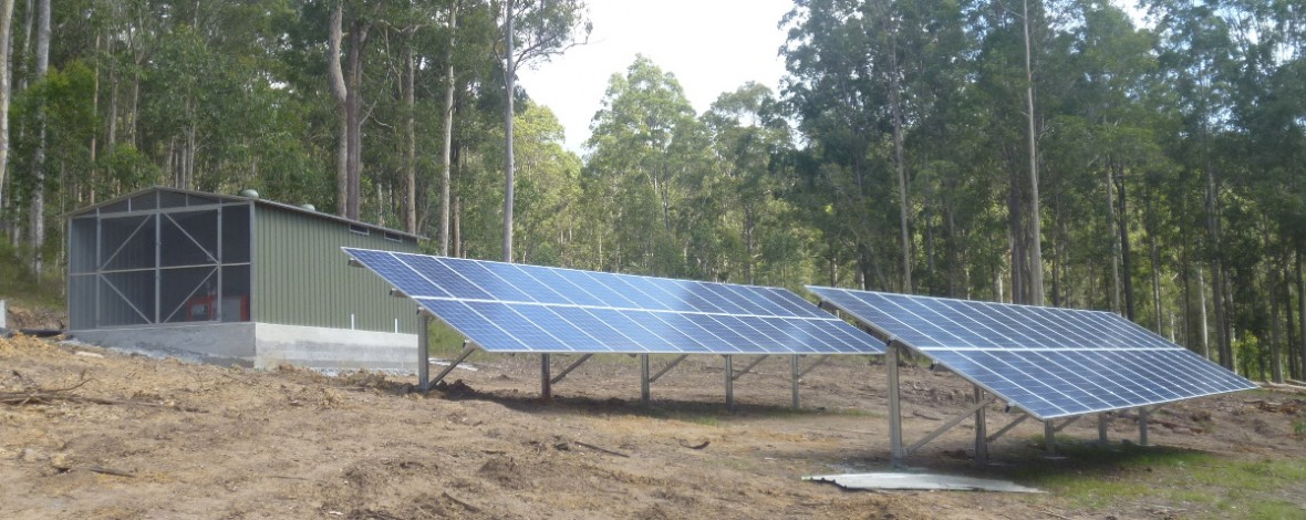 Off grid battery storage in NSW