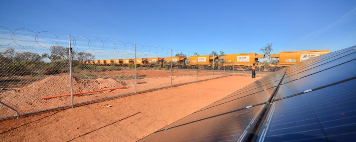 Solar array and train