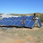 Ground mounted solar array installation