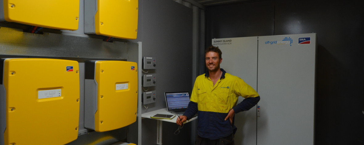 Containerised Battery System With Greg