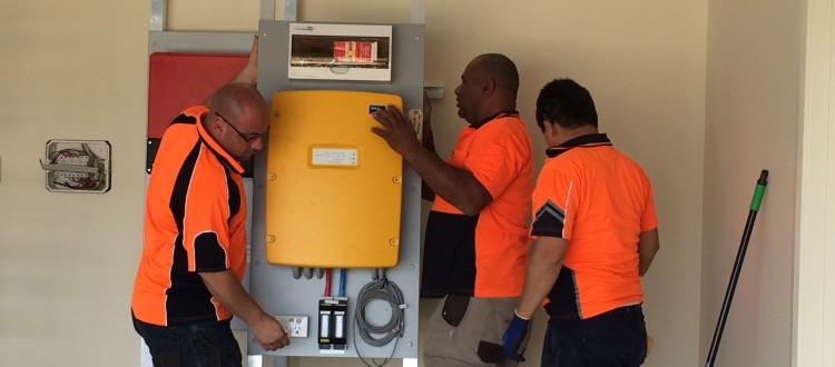 Off grid system installation