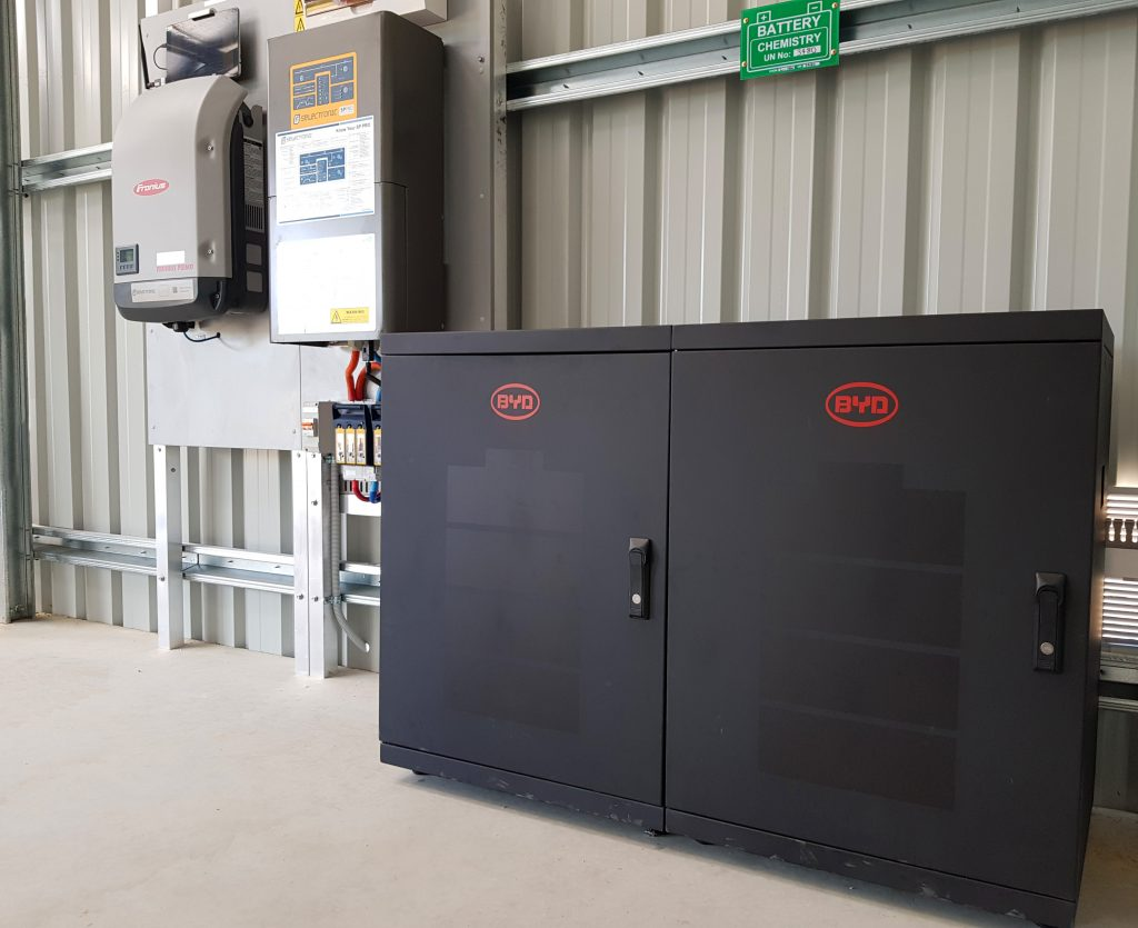 Lithium ion grid battery installation