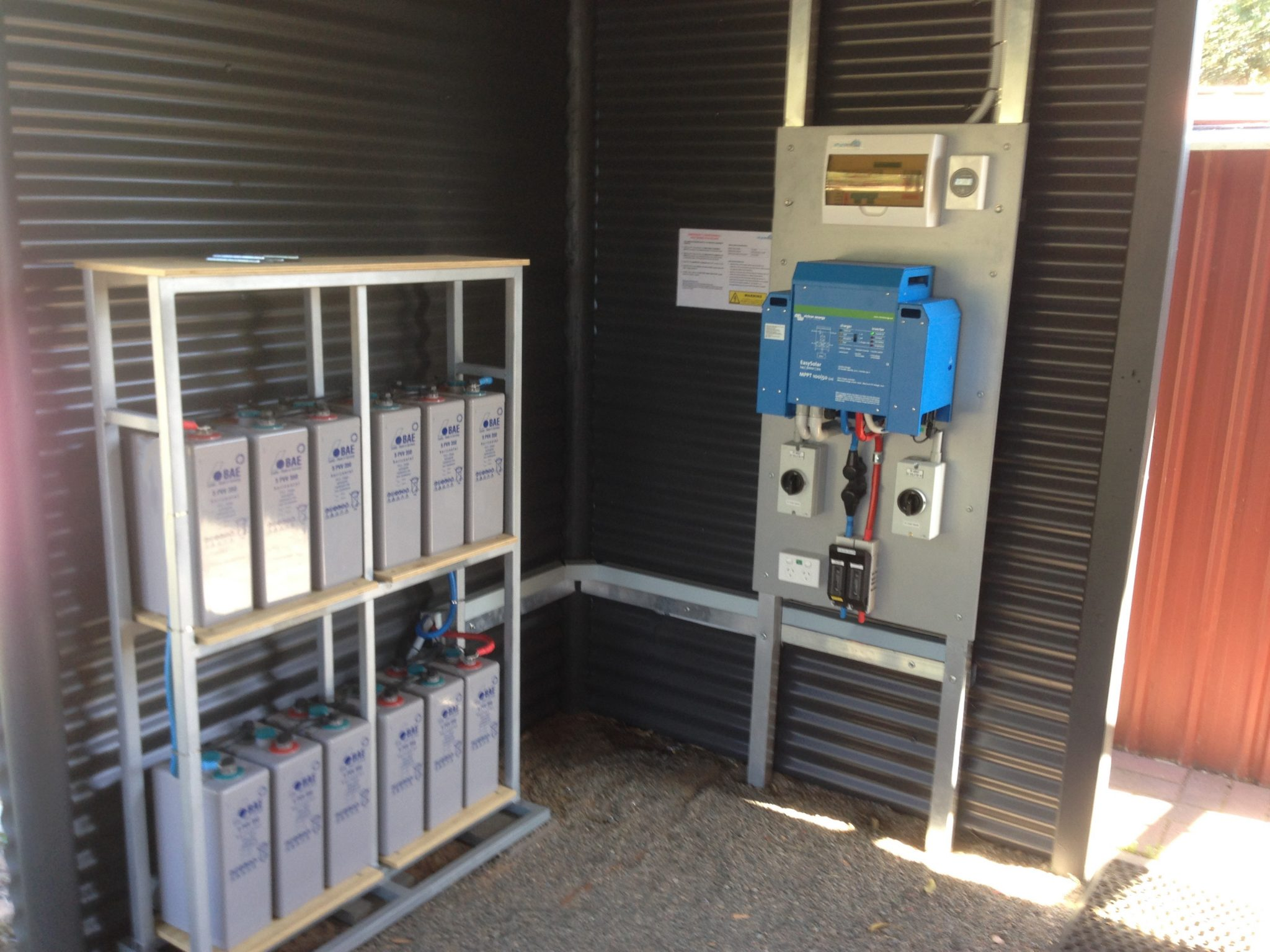 Off Grid Shed Power Energy Australia Wiring A For Electricity The System Requires Very Small Amount Of Space And Fits Neatly In Your Utility