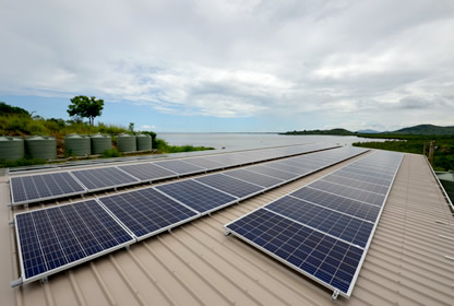 rural property utilising solar off grid power system