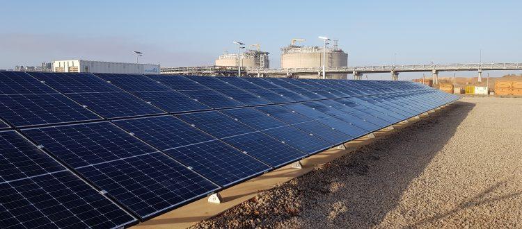 industrial solar array
