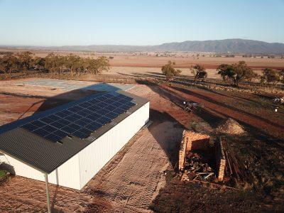 rural off grid home