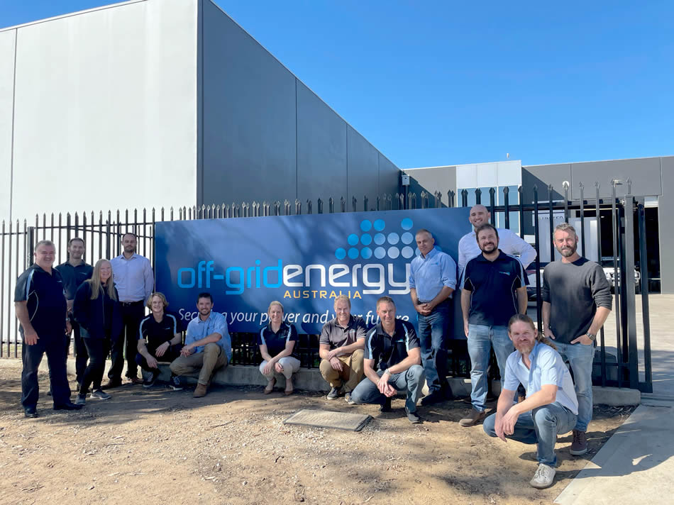 Off-Grid Energy staff - 2021