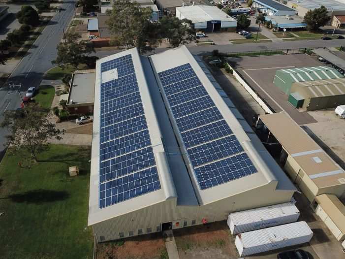 Solar on manufacturing business