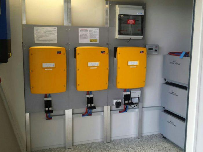 Batteries and inverter on solar system in Brisbane