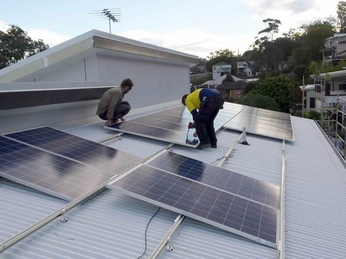 Installing solar panels on investment property in Brisbane