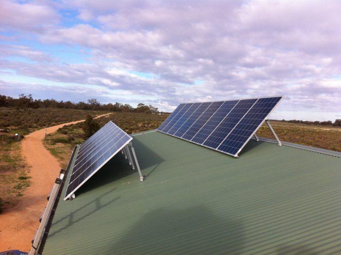 Tilted PV array