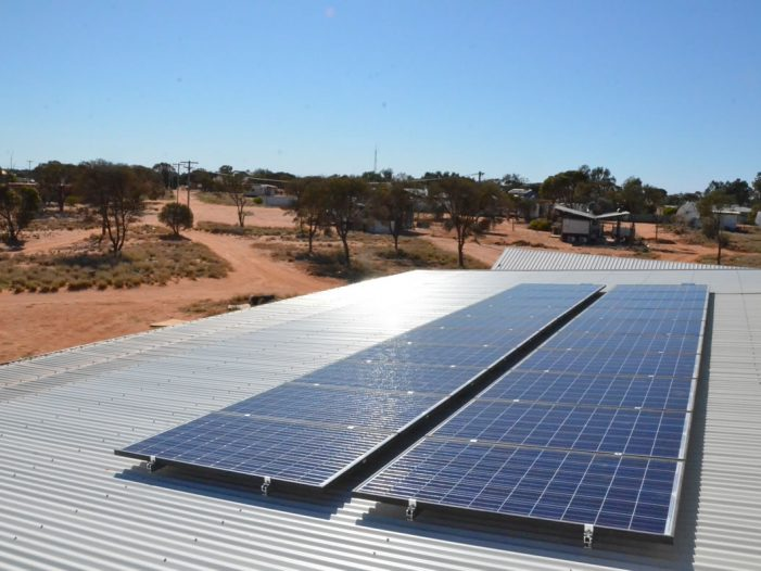 Off Grid Spinifex Arts Studio Solar Panels