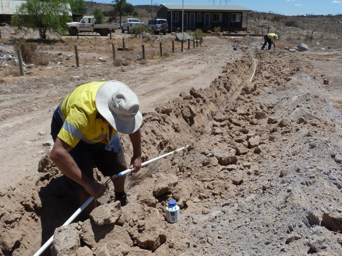 Trenching for off grid system