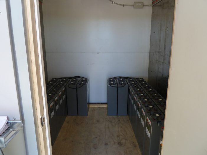 Containerised battery storage